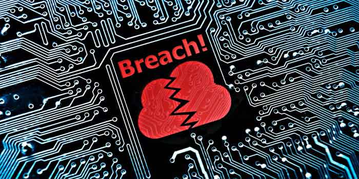 A motherboard with the word 'Breach' at the center