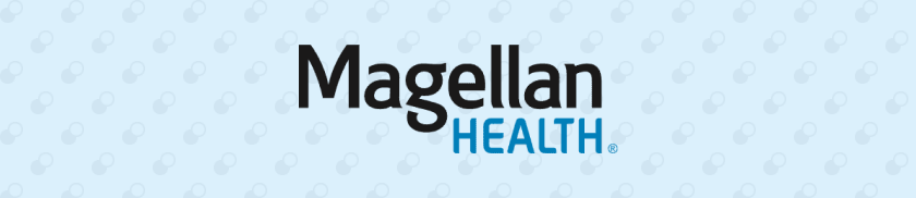 Magellan Health logo on a light blue background