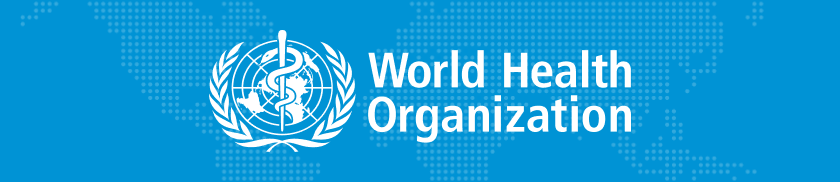World Health Organization logo on a blue background
