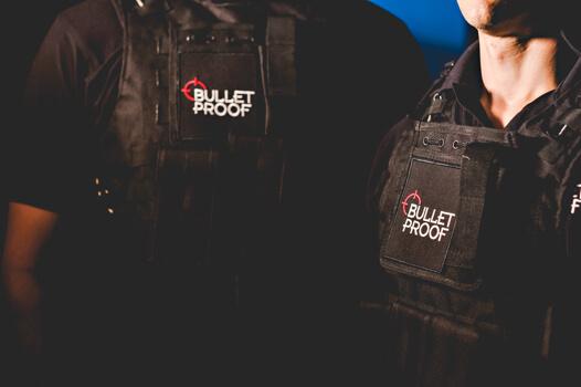 Bulletproof security in bullletproof vests