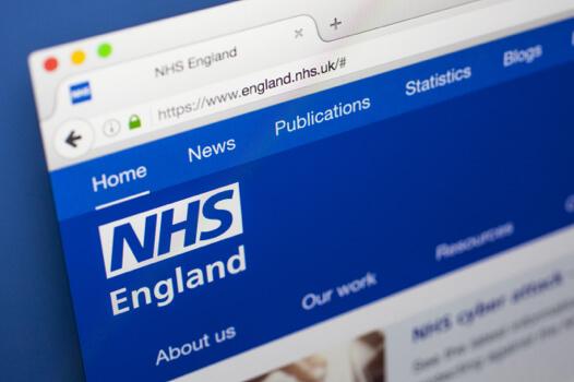 NHS Website in a browser window