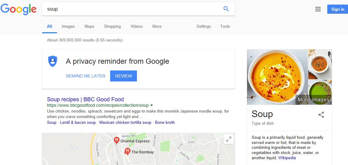 googling soup