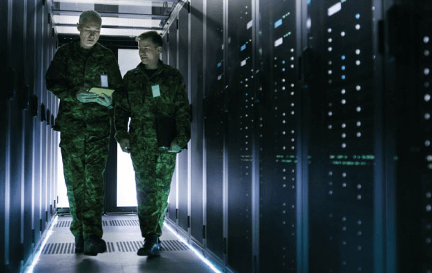 Data Protection Officers in a server room
