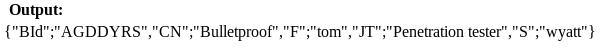 QR code output