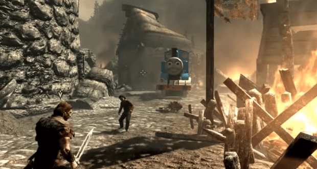 Thomas the Tank Engine in Skyrim