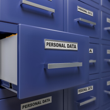 An open draw labelled 'Personal Data'