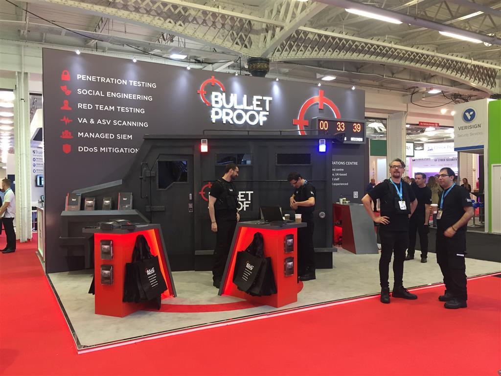 Bulletproof stand Infosec 2017
