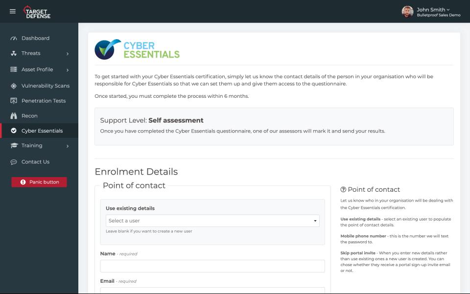 Cyber Essentials screenshot