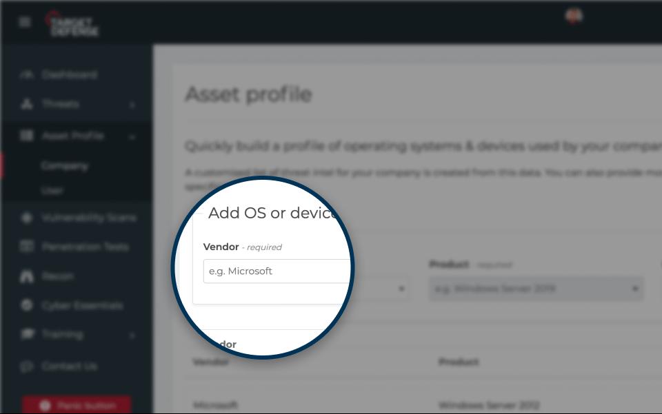 Asset profile screenshot